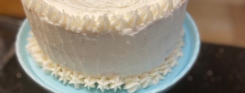 Wedding Cake For Akiva Vanilla Cake With Vanilla Buttercream Frosting Kosher From Jerusalem